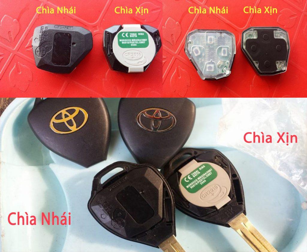 Chìa Toyota Xịn và Nhái